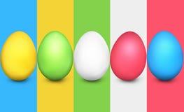 Easter Eggs Festive Elements Stock Images