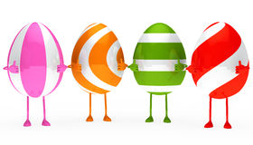 Easter eggs figure Royalty Free Stock Images
