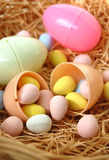 Easter Eggs Filled with Chocolate Royalty Free Stock Photos
