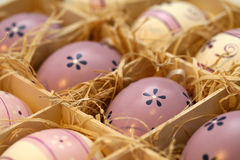 Easter eggs with floral ornament Royalty Free Stock Photo