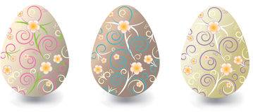 Easter eggs with floral ornaments Stock Image