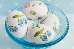 Easter Eggs with floral pattern Stock Photography