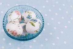 Easter Eggs with floral pattern Stock Image