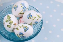 Easter Eggs with floral pattern Royalty Free Stock Images