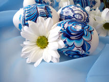 Easter eggs with flower Royalty Free Stock Photo