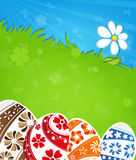 Easter eggs and flower Royalty Free Stock Photography
