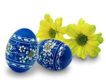 Easter eggs and flowers Royalty Free Stock Photo