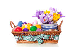 Easter eggs with flowers Stock Image