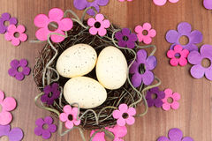 Easter eggs flowers Royalty Free Stock Photography