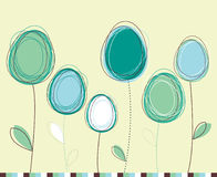 Easter eggs-flowers card Royalty Free Stock Photography