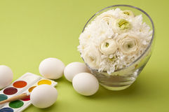 Easter eggs with flowers Royalty Free Stock Image