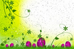 Easter eggs with flowers and leaves Royalty Free Stock Photography