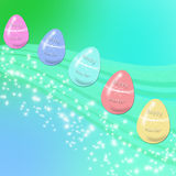 Easter eggs flying royalty free stock images