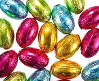 Easter eggs in foil - background royalty free stock image