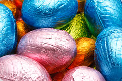 Easter eggs foil wrapped Stock Photos
