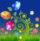 Easter eggs in the form of plants Royalty Free Stock Image