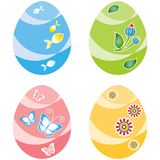Easter eggs, four variants of color Royalty Free Stock Photo