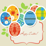 Easter eggs frame Stock Image
