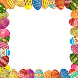 Easter eggs frame Royalty Free Stock Image