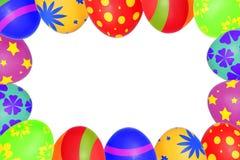 Easter eggs frame Stock Photos