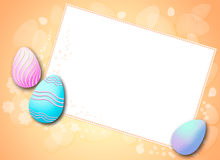 Easter eggs frame Stock Images