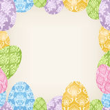 Easter Eggs frame Royalty Free Stock Photo
