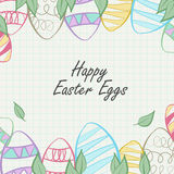 Easter eggs framing Royalty Free Stock Images