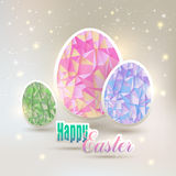 Easter, eggs with geometric elements Stock Image