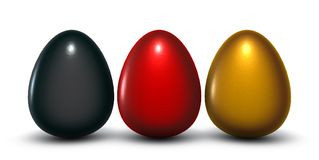 German easter eggs vector illustration