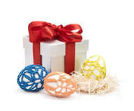 Easter eggs and gift Stock Photo