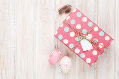 Easter eggs and gift box Royalty Free Stock Photography