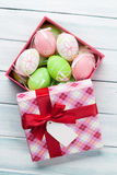 Easter eggs in gift box Royalty Free Stock Photography