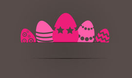 Easter Eggs - gift card. Easter Eggs on background - gift card Stock Photography