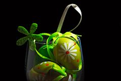 Easter eggs in a glass Royalty Free Stock Image