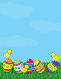 Easter Eggs and Grass Royalty Free Stock Photo