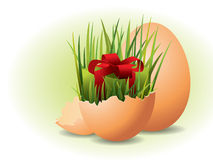 Easter Eggs and grass Royalty Free Stock Photography