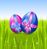 Easter eggs in the grass Royalty Free Stock Photos