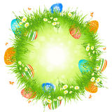 Easter Eggs in the Grass Royalty Free Stock Photo