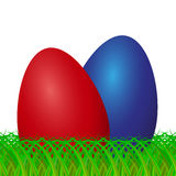 Easter eggs on grass.  Royalty Free Stock Photography