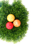 Easter eggs on grass. A red easter egg on grass Stock Image