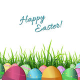 Easter eggs in grass Royalty Free Stock Photography