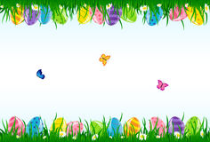 Background with Easter eggs Stock Photo