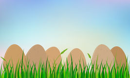 Easter eggs on grass Stock Photography