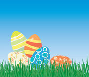 Easter eggs on the grass Royalty Free Stock Image