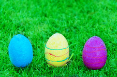 Easter eggs on the grass Stock Photo