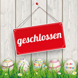 Easter Eggs Grass Wod Geschlossen Royalty Free Stock Image