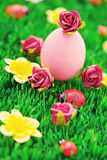 Easter eggs in green Royalty Free Stock Image