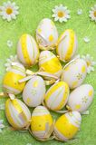 Easter eggs on the green Stock Photos
