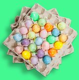 Easter eggs on green Stock Images
