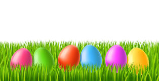 Easter eggs on green grass Royalty Free Stock Image